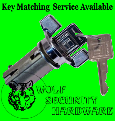General Motors GM Ignition Key Switch Lock Cylinder Assembly Chrome With 2 Keys