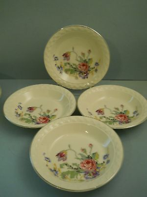 Lot Of 4 Soup Bowls Petit Point By Taylor Smith Taylor