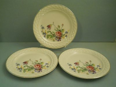 Lot 3 Salad Plates Petit Point By Taylor Smith Taylor