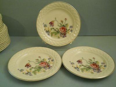Lot 3 Bread Plates Petit Point By Taylor Smith Taylor