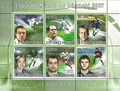 St. Thomas & Prince 2007 Stamp Rugby, Sport