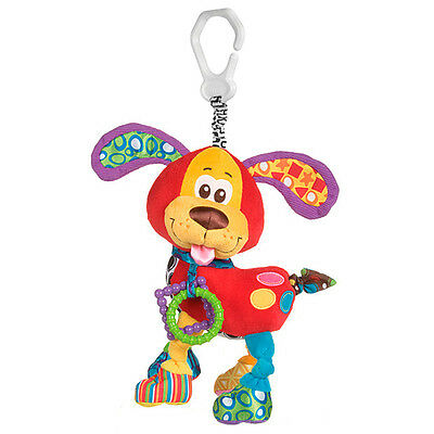 Brand New Playgro Puppy Activity Clip On Baby Toy