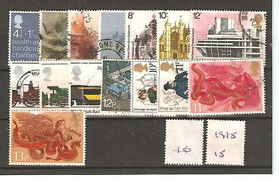 Commems High Values - 1975 -15 Diff- Commercially Used