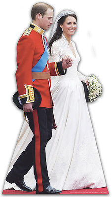PRINCE WILLIAM KATE (CATHERINE) MIDDLETON ROYAL WEDDING WEDDING DRESS DAY CUTOUT
