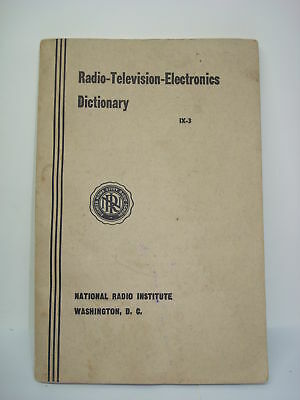 Libro - Book Radio-Television-Electronics Dictionary