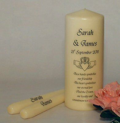 Personalised Claddagh Wedding Unity Candles