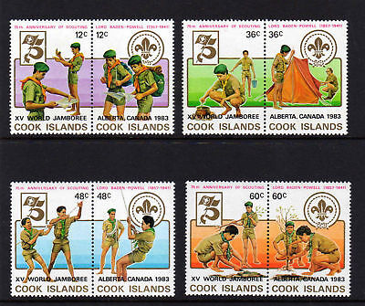 Cook Is.1983 Scouts Set Sg 875-882 Mnh.
