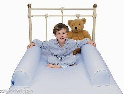 Dusky Moon Dream Tubes Bumper Bed Guard For Single Bed In Blue - No More Falling