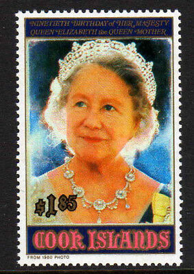 COOK IS.1990 90th BIRTHDAY SET SG 1246 MNH.
