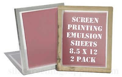 "Emulsion Sheets - 2 Pack 8.5""x12"" SAMPLER"