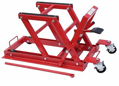 1500lb 680Kg Hydraulic Motorcycle Motor Bike Quad Lift ATV Jack workshop Red New