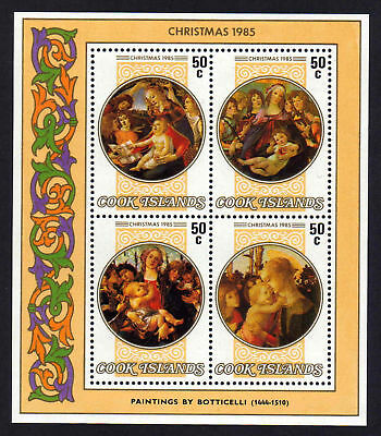 Cook Is.1985 Xmas M/sheet Ms 1056 Mnh.