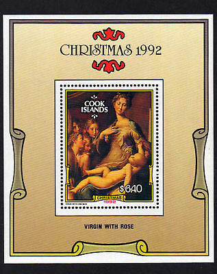 Cook Is.1992 Xmas M/sheet Ms 1323 Mnh.
