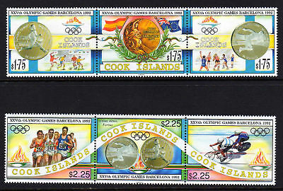 Cook Is.1992 Olympics Set Sg 1304-1309 Mnh.