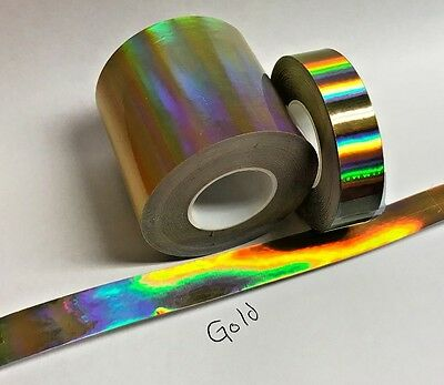 Gold Rainbow Vinyl Tape 1 inch x 25 feet, Oil Slick, Holographic Overall Shimmer