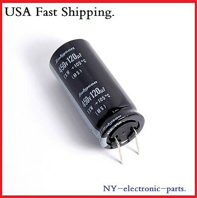 1X 450V 120Uf Rubycon Electrolytic Capacitors 18X40Mm 450V120Uf Txw