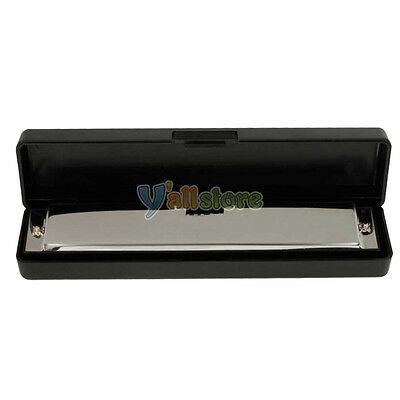 Swan Silver Harmonica 24 Holes with 48 tones Key Of C