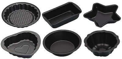 Kitchen Craft Mini Non Stick Baking / Jelly Moulds Cake Shape Loaf Tins