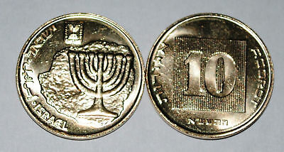 Israel 2011 10 Agorot BU From A Mint Roll UNC KM# 158
