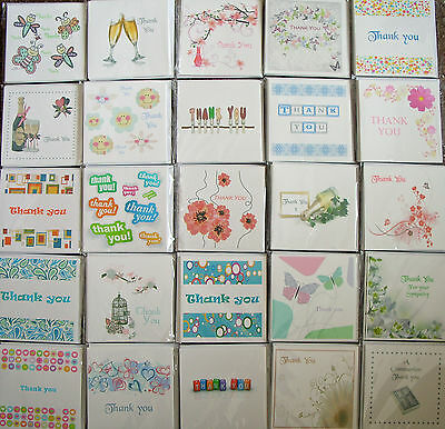Thank you cards. pack of 6 cards, blank inside, various designs to choose from