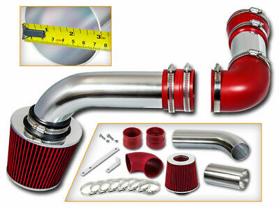 Black Red For 1994-1997 Pontiac Firebird 5.7 V8 3pc Cold Air Intake Kit