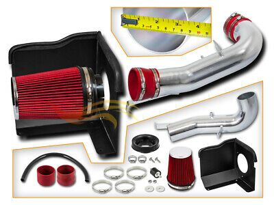 BCP RED 07-08 Silverado 1500 4.8/5.3/6.0L V8 Cold Air Intake Kit