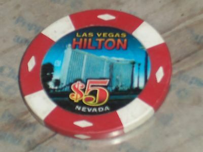 $510TH EDT GAMING CHIP FROM THE HILTON CASINO LAS VEGAS