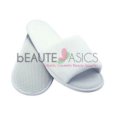 100 Pairs Disposable Terry Slippers Spa Wedding Party semi-reusable - as133x100