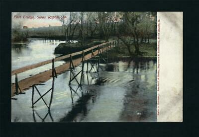 Sioux Rapids Iowa c1906 Foot Bridge Over the River