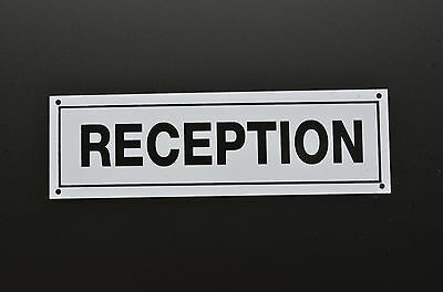 RECEPTION DOOR SIGN plastic or sticker