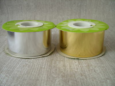 Metallic Roll of Silver or Gold ribbon 50m
