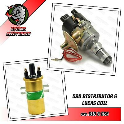 Mini Electronic Distributor 59D with DLB105 Gold Coil