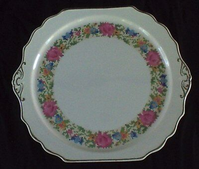 Harker * CROSS STITCH * Cake Plate Serving Tray Platter