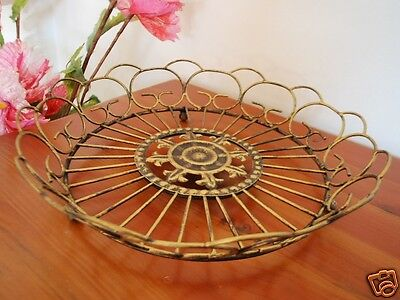 Hand Iron French Style Fruit Basket Plate Bread Serving Tray