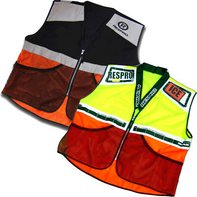 Respro Hi-Viz Reflective Safety Super Bib Vest Waistcoat Bike Cycle Cycling Run