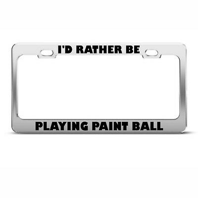 I/'D RATHER BE WATER SKIING water ski License Plate Frame