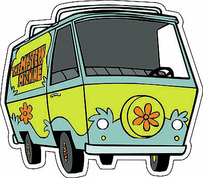 "Scooby-Doo Mystery Van scrapbook bumper sticker wall decor vinyl decal 5""x 4.4"""