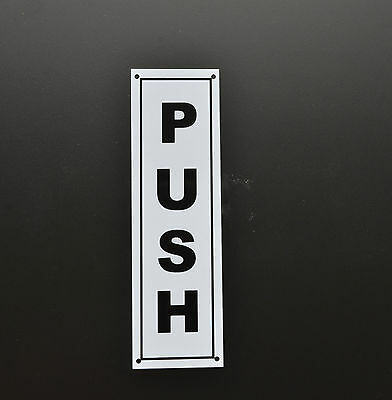 Push Door Sign - Sticker Plastic & Holed - Shop Entrance, Garage, Centre, Cafe