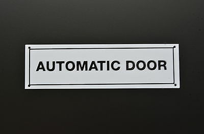 Automatic Door Caution Sign - Sticker, Plastic & Holed - Entrance, Shop.
