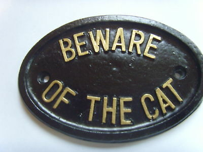 Beware Cat  House Sign Business  Litter Tray Plaque