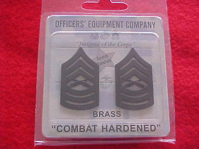 USMC  E-8 MSGT Brass collar chevrons by Officers' Equip
