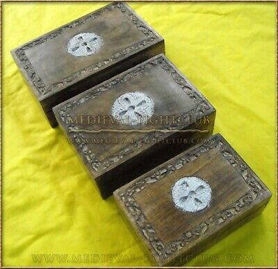 Natural Wood Chest boxes - set of 3