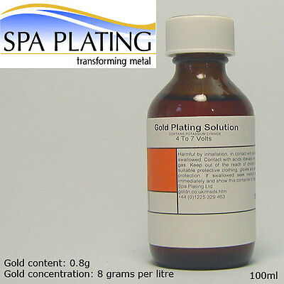 Gold Brush Plating Solution 100ml 24ct
