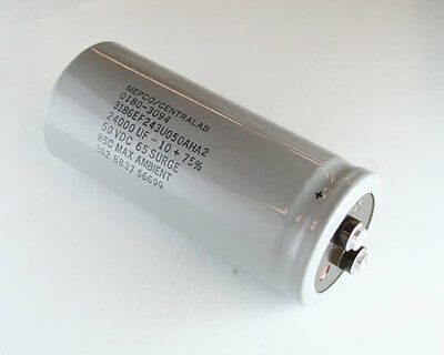 1x 25000uF 50V Large Can Electrolytic Aluminum Capacitor 25000mfd DC 105C 25,000