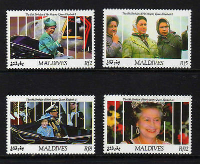 MALDIVE IS.1991 65th BIRTHDAY SG 1506-1509 MNH.