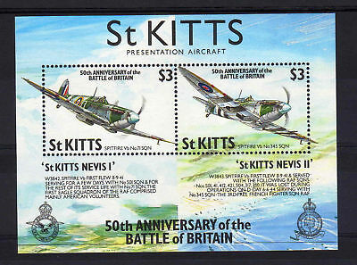 St.kitts 1990 Battle Of Britain Ms 311 Mnh.