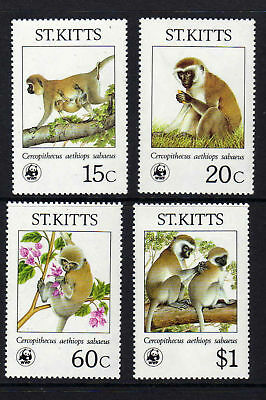St Kitts 1986 Species Set Sg 211-214 Mnh.