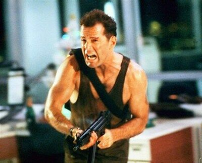 """BRUCE WILLIS AS JOHN MCCLANE FROM D Poster Print 24x20"""" iconic photo 250035"""