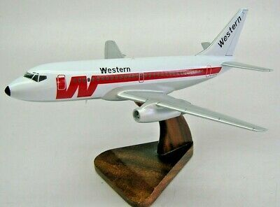 B-737-200 Western Airlines B737 Airplane Wood Model Free Shipping Regular New