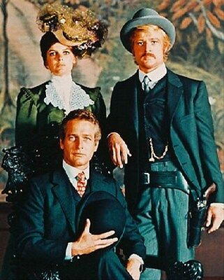 PAUL NEWMAN AS BUTCH CASSIDY, ROBERT REDFORD 8x10 Photo lovely image 232855